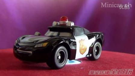 全日玩 TAKARA TOMY多美卡合金车赛车汽车总动员儿童玩具车模 C-36麦昆警车