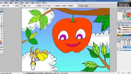 红红的苹果熟了(下)儿童画跟李老师学画画