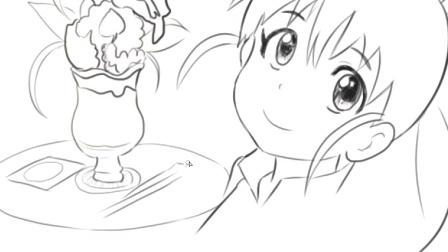[小林简笔画]绘画动画片《迷糊餐厅》中可爱的种岛白杨卡通动漫萌娘系简笔画教程