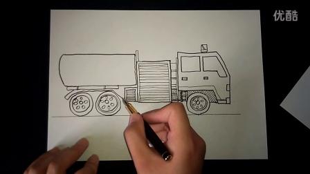 儿童画消防车起稿人美版一下汽车的联想跟李老师学画画