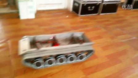 超大遥控坦克履带车KATR-5 不锈钢坦克底盘 500转 高速版长85cm 重30kg