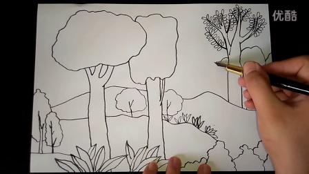 多彩的秋天秋色起稿怎么画人美一上跟李老师学画画