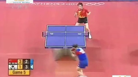 2004年雅典奥运会乒乓球女单半决赛 张怡宁VS金景娥 自制HL