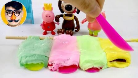 焦虑先生 第二季 粉红猪小妹海绵宝宝做蛋糕  猪小妹海绵宝宝做蛋糕