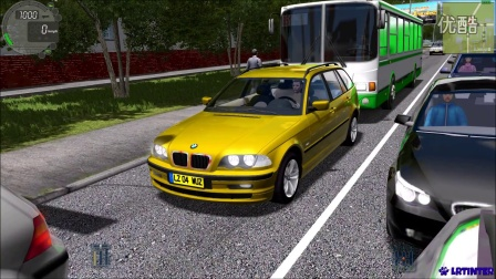 【lrtinter原创】城市汽车驾驶模拟 City Car Driving #003 BMW E46 Touring 320