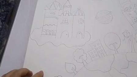儿童画比赛作品(主题:科技画)刘老师儿童画