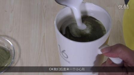 时尚奶茶饮品抹茶牛奶的做法,抹茶拿铁--优闲狐