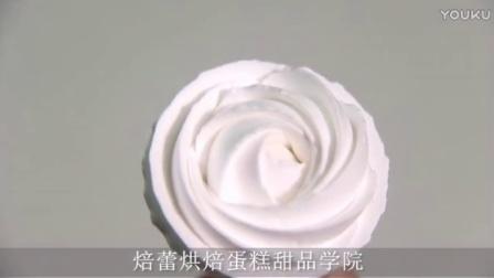 |视频教学|蛋糕培训,焙蕾烘焙蛋糕培训玫瑰花左手的裱挤