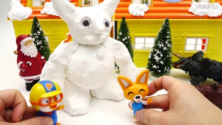 跟小企鹅啵乐乐和朋友们一起做雪人喔~ 啵乐乐 波比 艾迪 小龙 做圣诞树 pororo 圣诞爷爷  做雪人