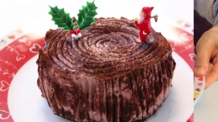 【泡芙飘雪转载】【日本食玩-可食】微波炉制作圣诞树桩蛋糕