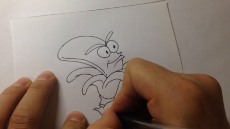 卡通简笔画.香蕉的画法