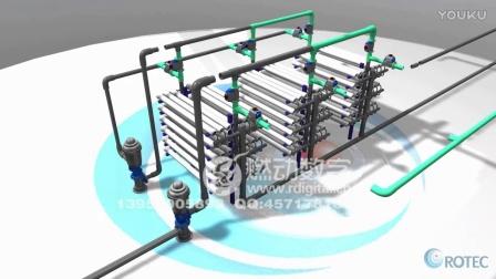 反渗透设备膜技术原理三维动画演示
