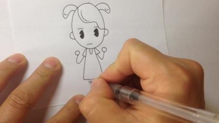 儿童简笔画.卡通人物的画法2