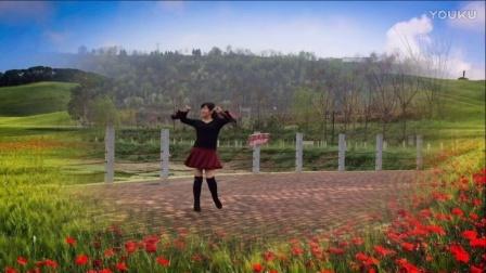 风中梅花广场舞 花开的时候来看我 茉莉编舞 演示制作 梅花
