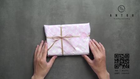 礼品包装-如何用软纸包礼物01[案头手礼 ANTOU]