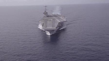 世界最大航空母舰福特号海上极速试航