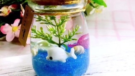 海洋生态瓶,简单的组合和少量的材料,可以做出非常好看的作品