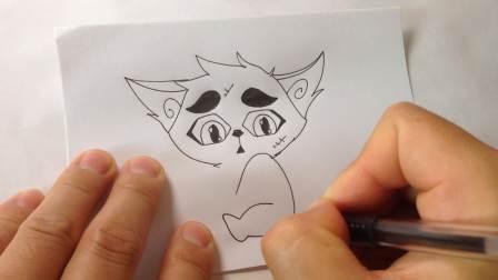 京剧猫.白糖的画法4