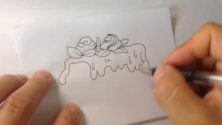 生日蛋糕-简笔画各种蛋糕的画法4