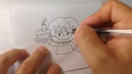 生日蛋糕-简笔画各种蛋糕的画法5