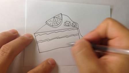 生日蛋糕-简笔画各种蛋糕的画法15