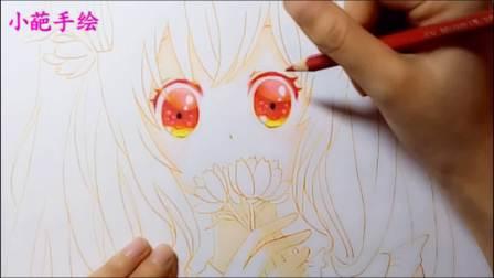 【小葩手绘】手绘初音未来-樱初音,马克笔手绘教程