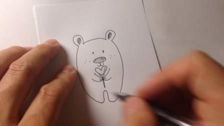 怎样画卡通简笔画.小熊