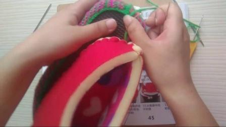 燕燕手工坊第4集毛线鞋360款花样书 拖鞋缝合  棉鞋缝合鞋帮缝合详细教程