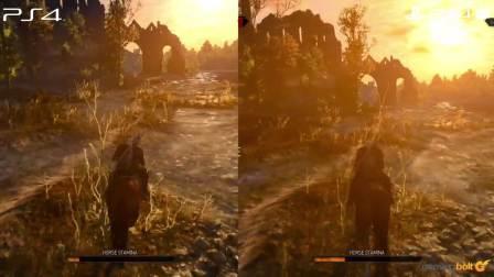 《巫师3》PS4 Pro vs PS4版对比视频