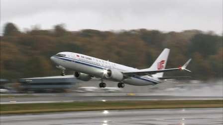 中国首架737 MAX从西雅图起飞归国