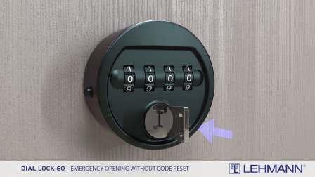 Dial Lock 60 -  紧急开锁无需重置密码