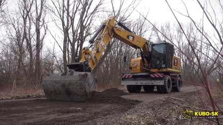 卡特 M318F 轮式挖掘机工作