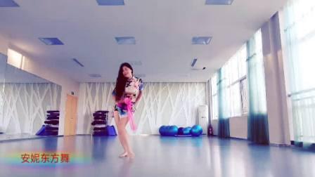 东营东城成人舞蹈  安妮肚皮舞培训  融合成品舞  《红昭愿》