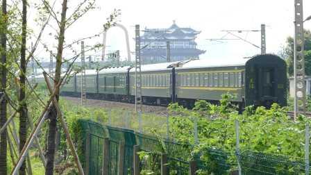 【列尾附挂】东风4D0512牵引客车K466附挂两节K211车底