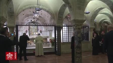 教宗方济各前往巴里圣尼各老大殿朝圣