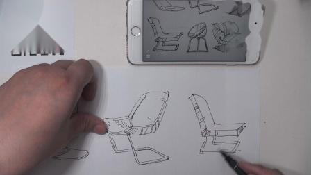 罗丹美术手绘——室内设计各种椅子画法