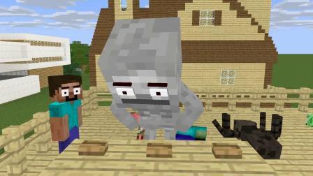 我的世界动画-怪物学院 vs 疯狂菜鸟-VT Minecraft Animation