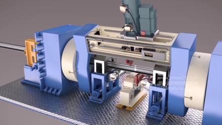 焊轨生产线流程动画-机械设备工艺动画-巨浪视觉-工业动画