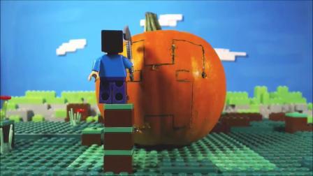 我的世界动画-乐高史蒂夫雕南瓜-Stopmo Bro