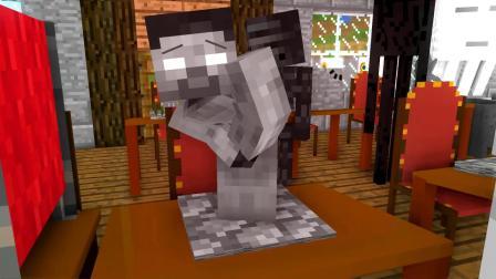 我的世界动画-怪物学院-雕像-Craftronix