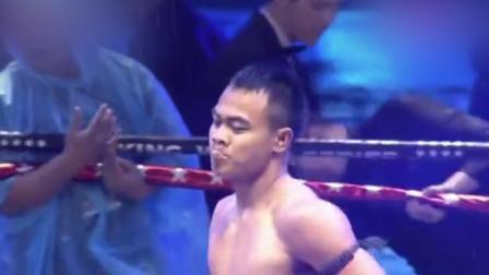 搏击大世界 泰拳王耀威猜1分钟ko黑人拳手