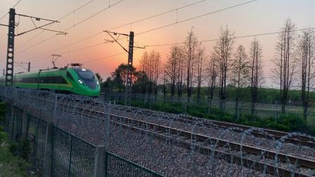 D718次通过沪昆线沪杭段K146KM处师古桥 FXD3J05-04(跟頭)