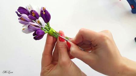 【发饰】郁金香🌷胸花