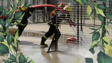 玉溪江川消防集训视频