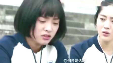 女孩伤心痛哭。