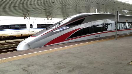 G6511(广州南—香港西九龙)本务广铁广九段,搭载CR400AF型重联车底,虎门站3站台发车