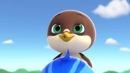 欢欢遇到危险,小鹰在危急时刻终于学会了飞翔