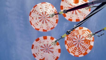 SpaceX载人龙飞船伞降测试
