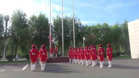 柳河县中心医院(康美柳河中心医院)首次升旗观礼仪式。
