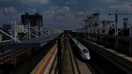 G546(广州南—郑州东)本务郑州局郑州段,搭载CRH380AL型车底,高速通过广州北站